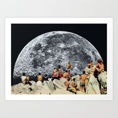 Buy MOONRISE  by Beth Hoeckel Collage & Design as a high quality Art Print. Worldwide shipping available at Society6.com. Just one of millions of products available.
