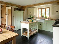 Farmhouse - Border Oak - oak framed houses, oak framed garages and structures. Old Kitchen, Kitchen Dining, Kitchen Cabinets, Kitchen Reno, Kitchen Ideas, Cottage Kitchens, French Kitchens, Country Kitchens, Dream Kitchens