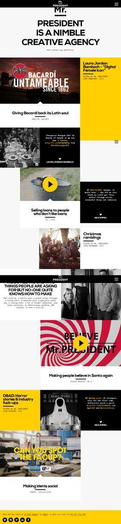 Mr President, 12 March 2014.  http://www.awwwards.com/web-design-awards/mr-president #UI #OnePage #Scroll #WebDesign #Clean #Colorful