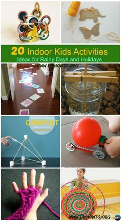 20 Indoor Kids Activities To Keep Them Busy And Fun,Get kids occupied during Spring break, vocation or rainy days with these easy activities. via @diyhowto