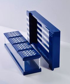Trays and boxes made from plexiglass and wood #royal_blue#motherofpearl  Available @ https://www.facebook.com/MaisonSo   MaisonSo-Riyadh-Saudi Arabia