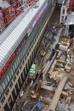 Blick vom Domturm auf die Baustelle Stadthaus - 04 - August 2013