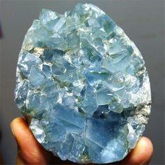712.6g  Natural Crystal Sparkling Blue Celestite Geode Mineral Specimen 670