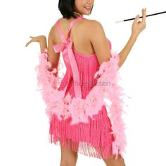 2m+Light+Pink+Costume+Feather+Boa
