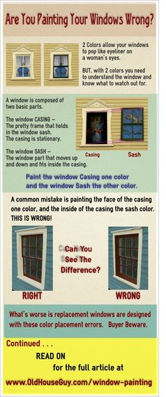 How to properly paint the exterior of double hung windows