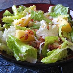 """Tropical Salad with Pineapple Vinaigrette  
