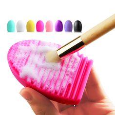Caliente Brushegg Glove Scrubber pinceles de Maquillaje Cepillo de la Colada Limpia de Sílice Junta de Limpieza Cosmética Herramientas De belleza pinceles de maquillaje