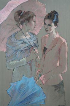 Katya Gridneva [Катя Гриднева] 1965 | Ukrainian Figurative painter pastel