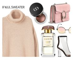 """""""Fall sweater."""" by inthetimelessness ❤ liked on Polyvore featuring MANGO, Gucci and fallsweaters"""