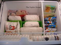 Bottom freezer organization
