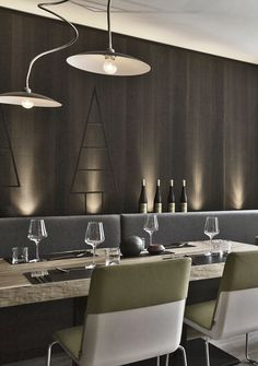 Hotel Schladming ᐁ Boutiquehotel ARX in Rohrmoos Restaurant Bar, Conference Room, Ceiling Lights, Table, Furniture, Home Decor, Best Music, Decoration Home, Room Decor