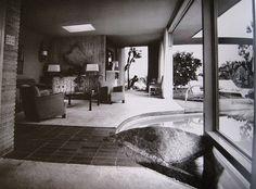 Interior of Raymond Loewy House, Albert Frey Palm Springs,