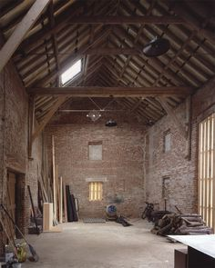 A Rural Remodel in Norfolk, Tithe Barn and Piggery Included - Remodelista - - UK landscape designer Emily Erlam wanted to move her children and husband from London back to the countryside where she grew up in Norfolk county, East Ang. Contemporary Barn, Modern Barn, Stone Barns, Stone Houses, Barn Conversion Interiors, Barn House Conversion, Converted Barn Homes, Tythe Barn, Uk Landscapes