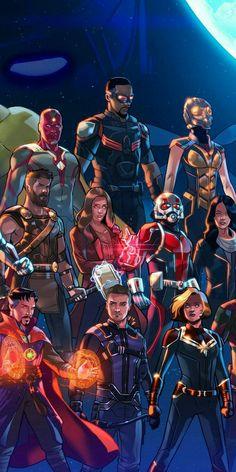 Marvel Avengers End Game Art Marvel Memes, Marvel Dc Comics, Marvel Avengers, Logo Super Heros, Space Opera, Marvel Wallpaper, Film Serie, Marvel Characters, Marvel Cinematic Universe