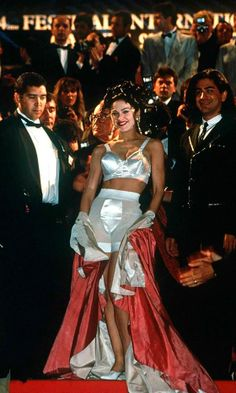 Madonna Wearing Jean Paul Gaultier At The Cannes Film Festival, 1991