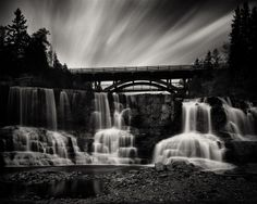 "Gooseberry Falls, made with a Graflex Crown Graphic on Ilford HP5+ 4x5"" film."