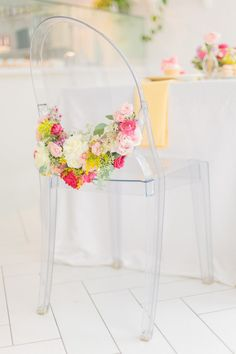 Flower infused ghost chair: http://www.stylemepretty.com/living/2017/02/03/a-flower-and-tutu-inspired-tea-party-for-the-littlest-loves/ Photography: Andrew & Jade - http://andrewjadephoto.com/