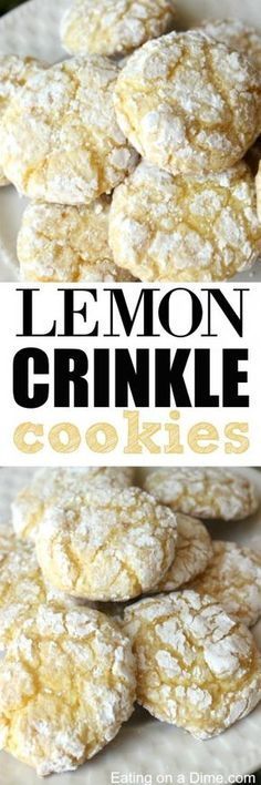 These Lemon Crinkle cookies are delicious! Just 4 ingredients to make this easy lemon cool whip cookies recipe. The Best Cake mix cookies!