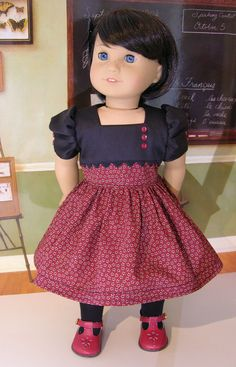 Grammar School - Vintage Style Dress For American Girl Doll