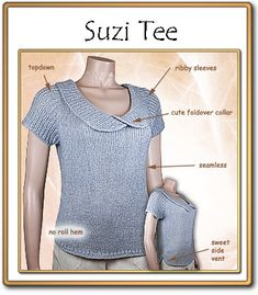 Suzi Tee - simple, flowing lines. Elegant in its simplicity. Found on Ravelry.