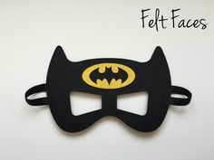 One Batman party mask, as shown in the photo. Each mask is made with premium felt, and has a black elastic band sewn to each side of the back. These adorable party masks are great for any Batman/Superhero themed party, or playing dress up. Lego Batman Birthday, Lego Batman Party, Superhero Birthday Party, Batman Superhero, 5th Birthday, Birthday Ideas, Birthday Parties, Batman Party Decorations, Batman Party Supplies