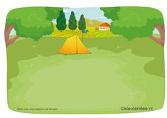 Kaartenset (20 kaarten) visuele discriminatie en kritisch luisteren voor kleuters 4, thema camping, kleuteridee.nl, juf Petra,  preschool visual discrimination, camping theme