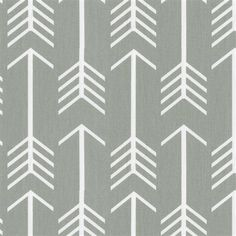 Gray Arrow Fabric by the Yard | Gray Fabric | Carousel Designs