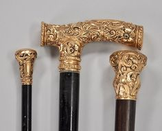 1516. Three Antique Walking Sticks, ca. 1870-1900 - Winter 2010 Auction - ASPIRE AUCTIONS