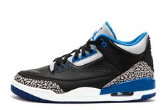 "nice shoes 6303a f3ffc Air Jordan 3 Retro ""Sport Blue"" Black Sport Blue-Wolf Grey For Sale Online  from Reliable Big Discount! Air Jordan 3 Retro ""Sport Blue"" Black Sport  Blue-Wolf ..."