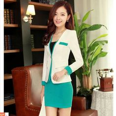 2014 new arrival spring women blazer suits Korea style OL slim blzer two pieces for Office Lady US $49.30