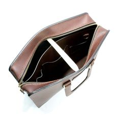 2102 top open leather briefcase - 23
