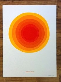 Jeff Canham silkscreen print limited edition, orange & white