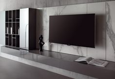 LANDSCAPE - Designer Wall storage systems from Acerbis ✓ all information ✓ high-resolution images ✓ CADs ✓ catalogues ✓ contact information. Living Room Tv, Living Room Modern, Living Room Interior, Home Interior, Living Room Designs, Interior Design, Tv Unit Design, Tv Wall Design, House Design