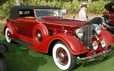 1934 Packard 1104 Super 8 Victoria Convertible - (Packard Motor Car Company Detroit, Michigan 1899-1958)
