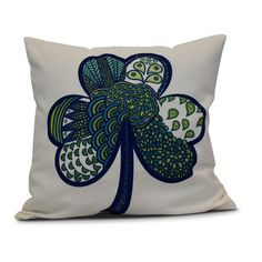 """The Holiday Aisle Funky Junky Sham-Tangle Throw Pillow Size: 16"""" H x 16"""" W"""