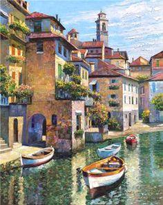 """Hidden Cove - Lake Como"" by Howard Behrens* I love his work!"