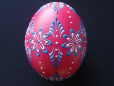 Easter Eggs Set of 3 Traditional Polish Eggs Wax Embossed