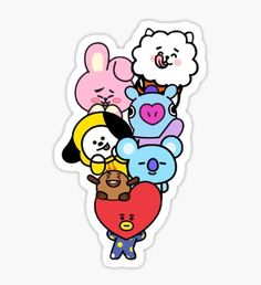 Bts stickers featuring millions of original designs created by independent artists. Bts Chibi, 3d Iphone Cases, Iphone 7, Aesthetic Stickers, Line Friends, Bts Taehyung, Jimin, Bts Fans, Cute Stickers