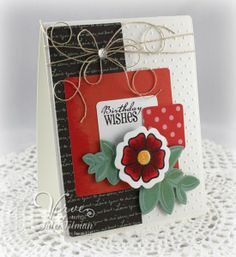 Birthday card by Julee Tilman using Amazing Wishes & Bloom & Grow from Verve.  #vervestamps