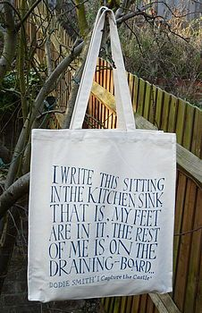 I Capture The Castle Shopping Bag http://www.notonthehighstreet.com/theliterarygiftcompany/product/i-capture-the-castle-shopping-bag