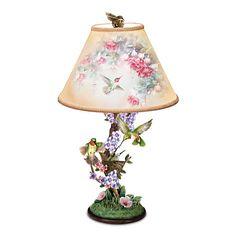 The Bradford Exchange Limited Edition Hummingbird Garden Jewels Lamp by Lena Liu