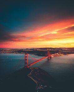 Golden Sunset by Manny Estrada #sanfrancisco #sf #bayarea #alwayssf #goldengatebridge #goldengate #alcatraz #california