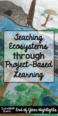Ecosystems Environments Project Based Learning Project that integrates arts, science, writing, research, and technology; Students work in groups based on a biome or environment and study one animal in that ecosystems.