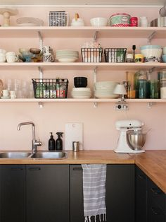 Besides nurseries and retro bathrooms, pink isn't a color you find all that often in the home. It's often seen as too girly or too feminine, but that's totally wrong! Pink can be a chameleon. Pair baby pink with an inky blue to lighten the mood, or combine magenta with gold accents for a contemporary look. Pink is even great in the kitchen. See how these 10 kitchens saw the potential in pink — maybe you'll find your own blush inspiration.