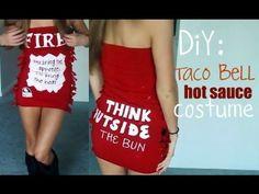 DIY Taco Bell Hot Sauce halloween costume [video]