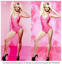 Brutney Spears autorizó a que en los colegios se mostrasen las dos imágenes de tal manera que los chicos conociesen la auténtica realidad y el uso incorrecto que muchos hacen de esta herramienta fotográfica. ¿Seguro que era para eso Spears?
