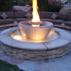 Fireplace Fountain #DreamHome