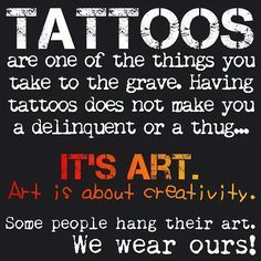Tattoos are just body art. I don't understand why people are so against them. Tattoos are beautiful and those who have them shouldn't be ridiculed. San Francisco Tattoo Artists, Denver Tattoo Artists, Famous Tattoo Artists, Tattoos Skull, Top Tattoos, Body Art Tattoos, Tatoos, Sexy Tattoos, Weird Tattoos