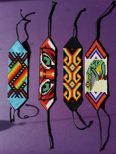 Beaded Braclets, Bead Loom Bracelets, Bead Loom Patterns, Beading Patterns, Bracelet Designs, Necklace Designs, Handmade Design, Handmade Items, Loom Bracelets