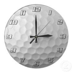Golf Ball Dimples Texture Pattern 2 Wall Clock  $24.95